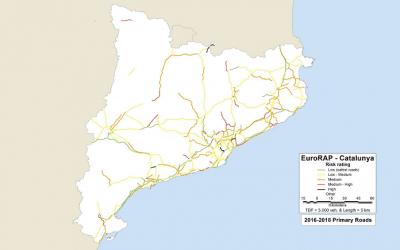 El 30% de la xarxa viària catalana té un risc 'alt' o 'molt alt' d'accident greu o mortal