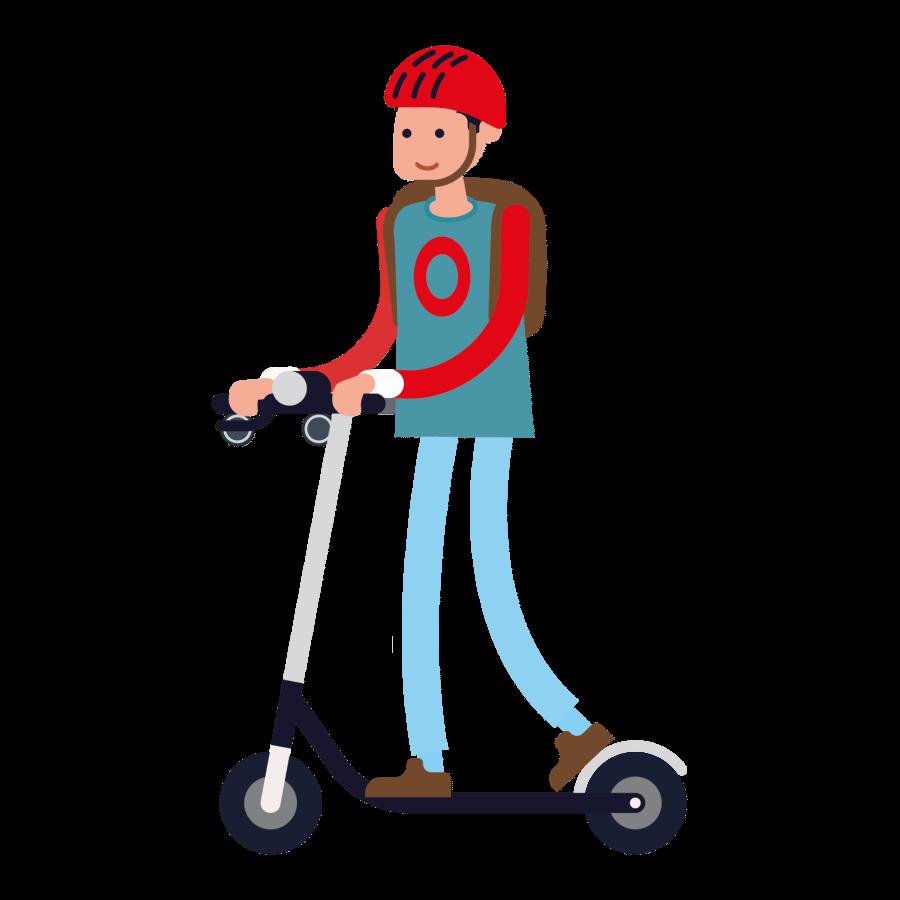 Joves i Mobilitat   noi amb patinet elèctric